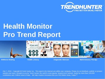 Health Monitor Trend Report and Health Monitor Market Research