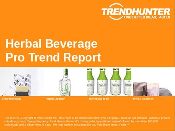 Herbal Beverage Trend Report and Herbal Beverage Market Research