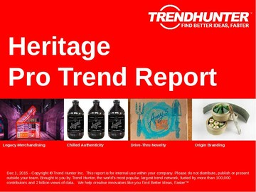 Heritage Trend Report and Heritage Market Research