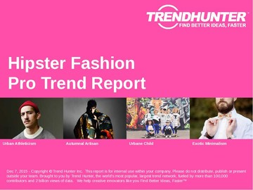 Hipster Fashion Trend Report and Hipster Fashion Market Research