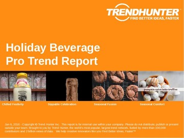 Holiday Beverage Trend Report and Holiday Beverage Market Research