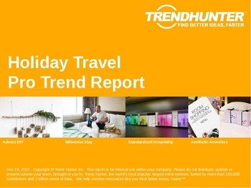 Holiday Travel Trend Report and Holiday Travel Market Research