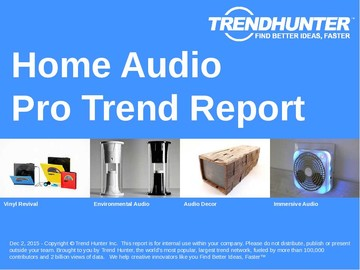 Home Audio Trend Report and Home Audio Market Research