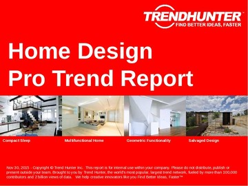 Home Design Trend Report and Home Design Market Research