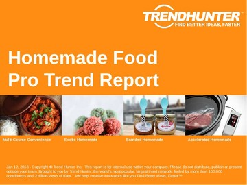 Homemade Food Trend Report and Homemade Food Market Research