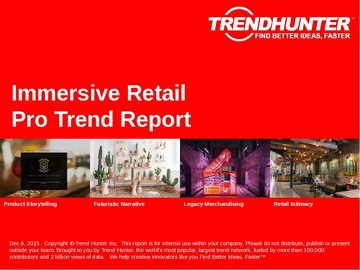 Immersive Retail Trend Report and Immersive Retail Market Research