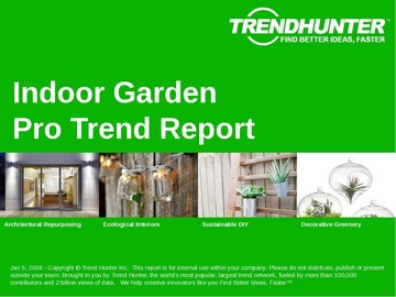 Indoor Garden Trend Report and Indoor Garden Market Research