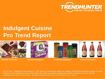 Indulgent Cuisine Trend Report and Indulgent Cuisine Market Research