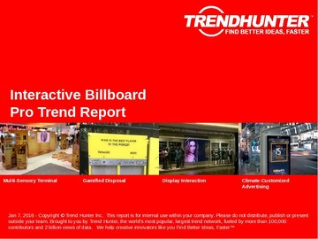 Interactive Billboard Trend Report and Interactive Billboard Market Research