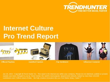 Internet Culture Trend Report and Internet Culture Market Research