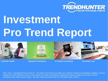 Investment Trend Report and Investment Market Research