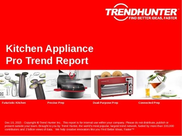 Kitchen Appliance Trend Report and Kitchen Appliance Market Research