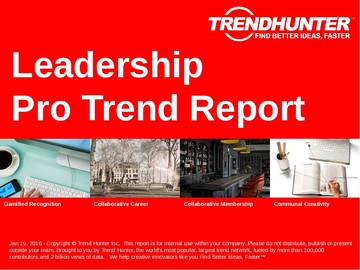 Leadership Trend Report and Leadership Market Research
