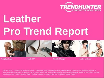 Leather Trend Report and Leather Market Research