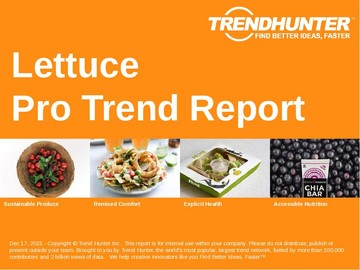 Lettuce Trend Report and Lettuce Market Research