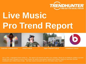 Live Music Trend Report and Live Music Market Research