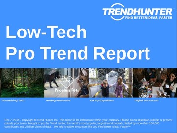 Low-Tech Trend Report and Low-Tech Market Research