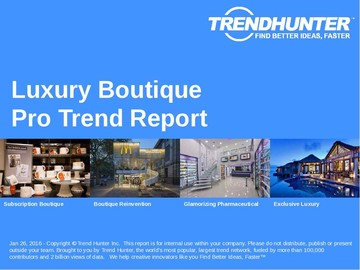 Luxury Boutique Trend Report and Luxury Boutique Market Research