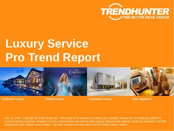 Luxury Service Trend Report and Luxury Service Market Research