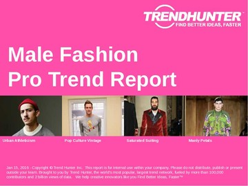 Male Fashion Trend Report and Male Fashion Market Research