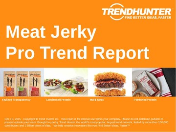Meat Jerky Trend Report and Meat Jerky Market Research