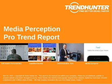 Media Perception Trend Report and Media Perception Market Research