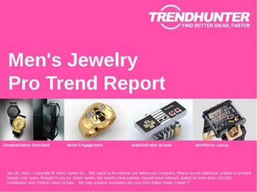 Men's Jewelry Trend Report and Men's Jewelry Market Research