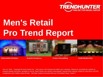 Men's Retail Trend Report and Men's Retail Market Research