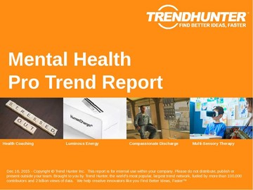 Mental Health Trend Report and Mental Health Market Research