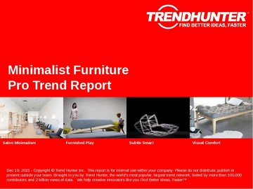 Minimalist Furniture Trend Report and Minimalist Furniture Market Research