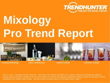 Mixology Trend Report and Mixology Market Research