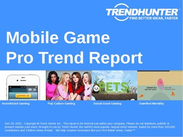 Mobile Game Trend Report and Mobile Game Market Research