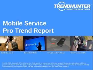 Mobile Service Trend Report and Mobile Service Market Research