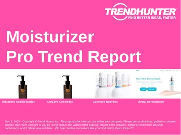Moisturizer Trend Report and Moisturizer Market Research