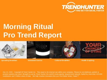 Morning Ritual Trend Report and Morning Ritual Market Research