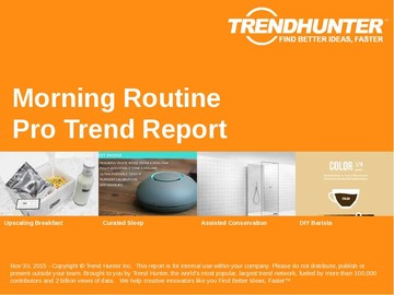 Morning Routine Trend Report and Morning Routine Market Research