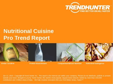 Nutritional Cuisine Trend Report and Nutritional Cuisine Market Research