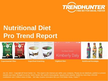 Nutritional Diet Trend Report and Nutritional Diet Market Research