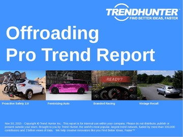 Offroading Trend Report and Offroading Market Research