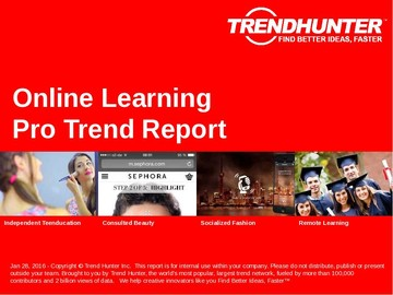 Online Learning Trend Report and Online Learning Market Research