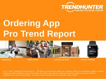 Ordering App Trend Report and Ordering App Market Research