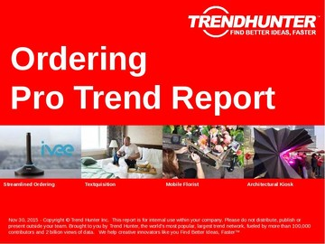 Ordering Trend Report and Ordering Market Research