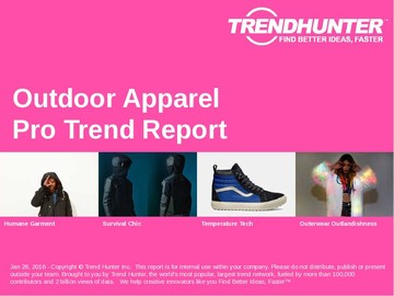 Outdoor Apparel Trend Report and Outdoor Apparel Market Research