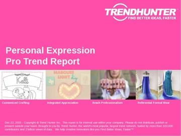 Personal Expression Trend Report and Personal Expression Market Research