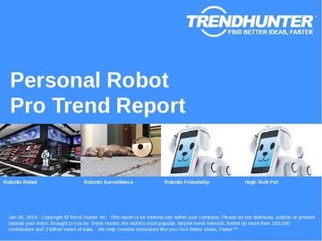 Personal Robot Trend Report and Personal Robot Market Research