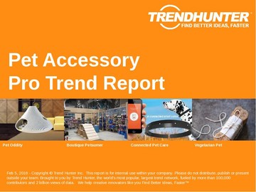 Pet Accessory Trend Report and Pet Accessory Market Research
