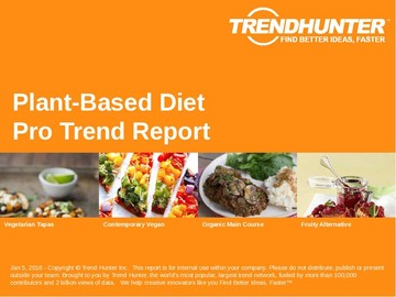Plant-Based Diet Trend Report and Plant-Based Diet Market Research