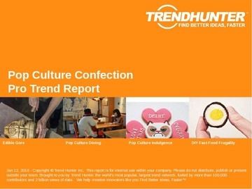 Pop Culture Confection Trend Report and Pop Culture Confection Market Research