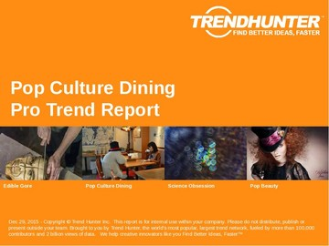 Pop Culture Dining Trend Report and Pop Culture Dining Market Research