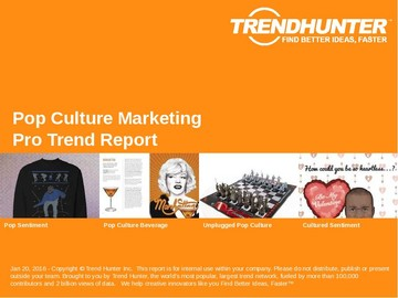 Pop Culture Marketing Trend Report and Pop Culture Marketing Market Research